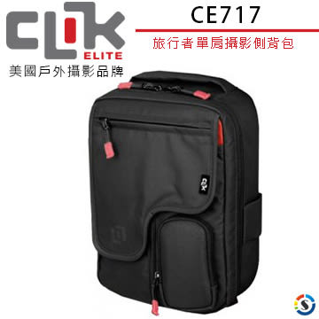 ★百諾展示中心★CLIK ELITE CE717美國戶外攝影品牌 旅行者Traveler單肩攝影側背包
