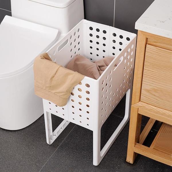 日本臟衣服收納筐可摺疊家用臟衣簍洗衣籃塑料裝衣服桶籃子收納筐 ATF 滿天星