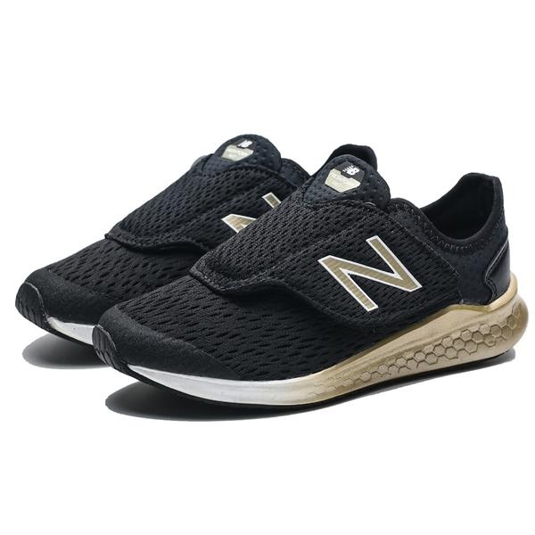 NEW BALANCE 飛機鞋 黏帶 黑金 網布 運動鞋 慢跑鞋 童鞋 中童 (布魯克林) PTFSTMS