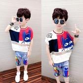 男童t恤短袖夏裝2020新款兒童寬鬆洋氣半袖上衣男孩中大童韓版潮 布衣潮人