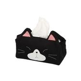 黑面萌貓衛生紙盒套/拼布包包