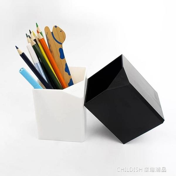 日系黑白系列 簡約無印風筆筒 多功能創意時尚辦公室學生兒童韓國 童趣潮品