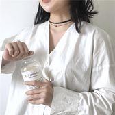 Fashion girl韓國水晶珠雙層頸鍊choker氣質簡約細鎖骨鍊項鍊X153