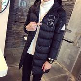 夾克外套-連帽冬季中長版時尚保暖夾棉男外套3色73qa27[時尚巴黎]