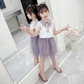 女童夏裝套裝2020新款韓版兒童洋氣公主裙子女孩短袖夏季連衣套裙