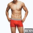 HENIS 時尚型男立體剪裁平口褲 隨機取色 2件組
