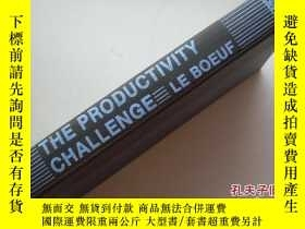 二手書博民逛書店The罕見productivity challenge:How
