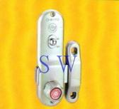 647特價 青葉牌單向高級鋁門鎖 700、1000型 平面無鎖心(無鑰匙)鋁門平鎖 落地門鎖 鎌錠鎖