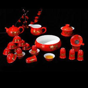 特價婚慶中國紅黑金龍 聞香杯