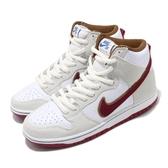 Nike 滑板鞋 SB Dunk High Pro 米白 紅 男鞋 高筒 運動鞋【PUMP306】 CV9499-100