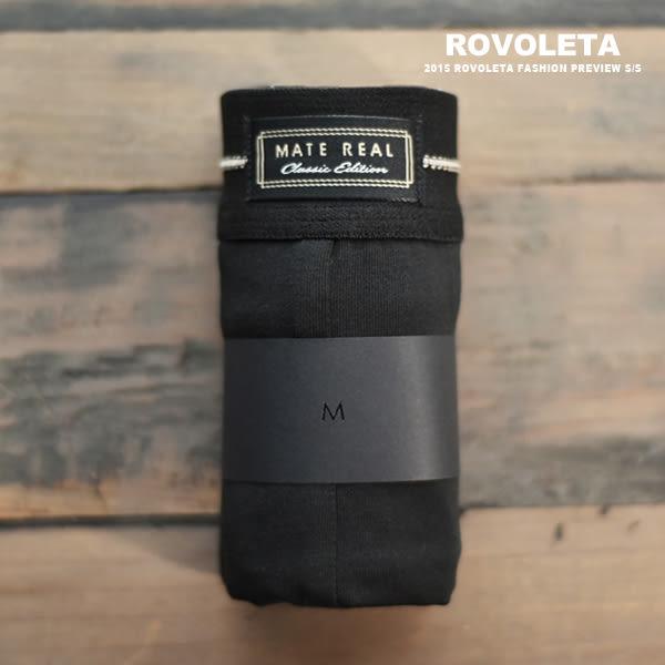 立體剪裁三角褲|淡金縫線|黑【MR-01】(ROVOLETA)