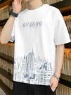 短袖t恤男士2021春夏季新款半袖體恤ins潮流潮牌百搭寬鬆男裝衣服「時尚彩紅屋」