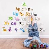 壁貼【橘果設計】動物與字母 DIY組合壁貼 牆貼 壁紙 壁貼 室內設計 裝潢 壁貼