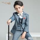 兒童西裝 兒童西裝套裝男童花童禮服小西服男孩鋼琴演出服帥氣英倫韓版春秋 韓菲兒