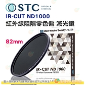 送蔡司拭鏡紙10包 台灣製 STC IR-CUT ND1000 82mm 紅外線阻隔零色偏減光鏡 減10格 18個月保固