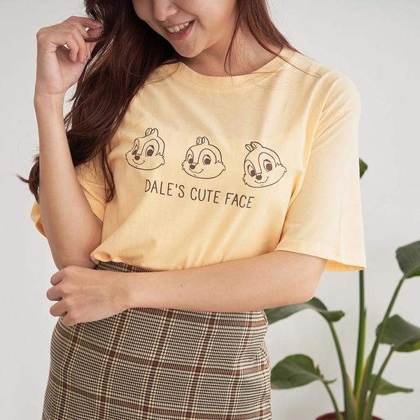 韓國女裝 可愛花栗鼠小臉短袖T恤 C1078 正韓直送 韓妞必備 百搭顯瘦基本款 阿華有事嗎