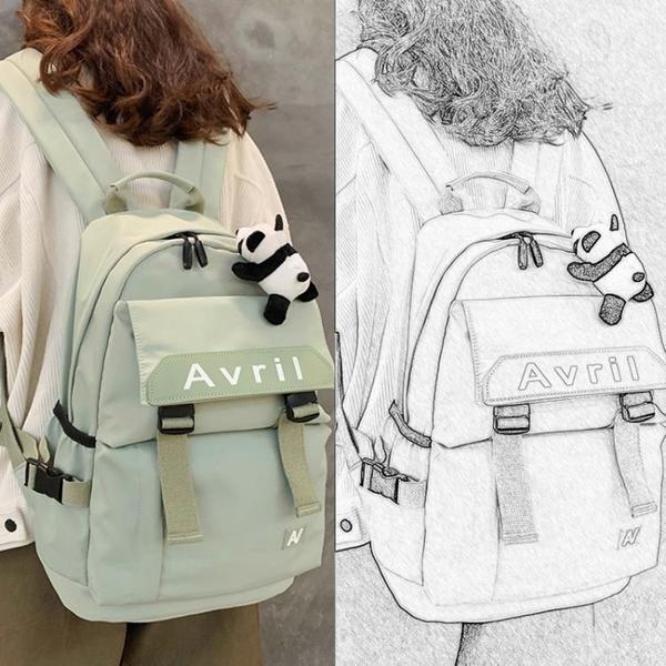 高顏值初中生書包女韓版高中學生大容量原宿ulzzang背包大雙肩包 後街五號