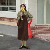 大碼女裝胖mm可甜可鹽法式背帶洋裝2021年春秋新款洋氣減齡長裙 夏日特惠 母親節禮物