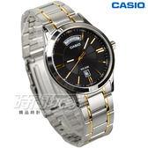 CASIO卡西歐 MTP-1381G-1A 型男時尚貴族金系腕錶 男錶 金x銀 日期/星期顯示 防水手錶 MTP-1381G-1AVDF