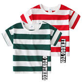 現貨 寶寶條紋T恤 2019夏裝新款男童童裝兒童短袖T恤衫2歲-14歲男童短袖