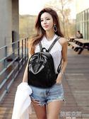 雙肩包女2018新款包包韓版百搭時尚背包女雙肩軟皮旅行包書包女包
