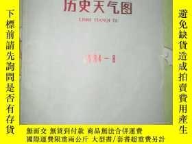 二手書博民逛書店歷史天氣圖(1984年8月)罕見4開本Y5460 中央氣象局氣象