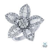 ﹝鑽石屋﹞鑽石總重1.87 花朵造型鑽石戒指 DA021493
