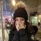 毛線帽子女冬天潮韓國甜美可愛針織帽秋冬季保暖毛球毛線帽女韓版 小山好物