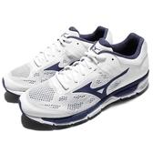 Mizuno 慢跑鞋 Synchro MX2 白 藍 網布透氣 運動鞋 基本款 男鞋【PUMP306】 J1GE171917