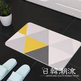 現代簡約幾何硅藻土地墊浴室廚房吸水速干防滑硅藻泥腳墊來圖定制