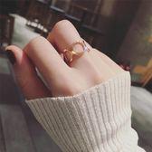 戒指 食指戒日韓個性時尚開口指環潮人學生冷淡風女可調節