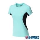 K-SWISS Neon Logo Tee涼感排汗T恤-女-薄荷綠