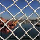 建筑工地安全網尼龍網樓梯兒童防護網繩網防...