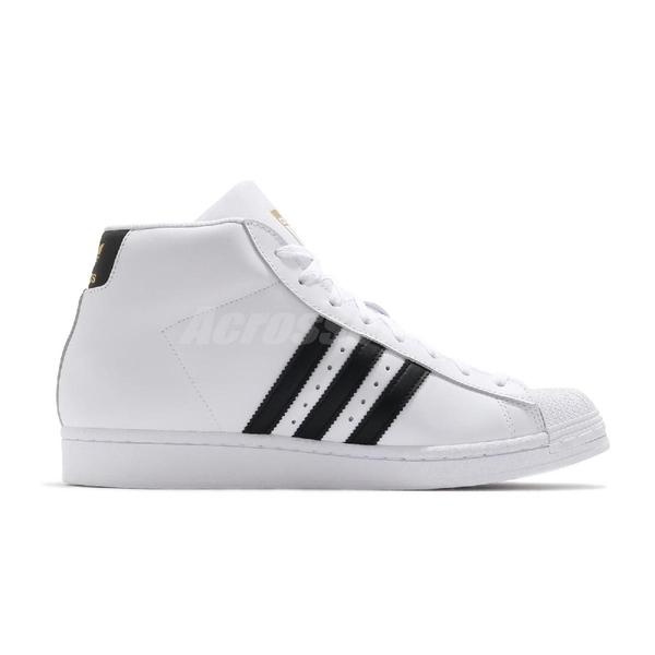 【海外限定】adidas 休閒鞋 Pro Model 白 黑 男鞋 女鞋 金標 復古 中筒 貝殼頭 運動鞋 【ACS】 FV5722