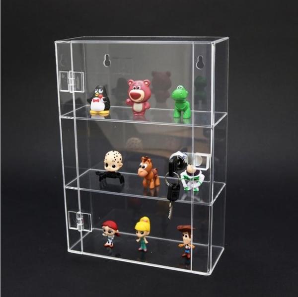 透明展示架玩具精品化妝品展示櫃手辦公仔動漫模型收納櫃【快速出貨】