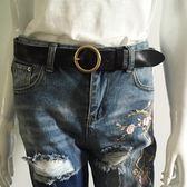軟 百搭時尚韓版銅扣復古加長腰帶