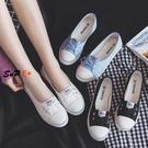 帆布鞋 平底 百搭 透氣 淺口布鞋