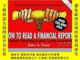二手書博民逛書店How罕見To Read A Financial ReportY255562 Tracy, John A. J