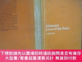 二手書博民逛書店johnson s罕見lives of the poets a selection 約翰遜詩集Y158628