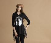 【 BETTY BOOP 】秋冬品牌服飾特賣~ 針織帶亮片花朵髮飾傘狀上衣   NO.BW12266