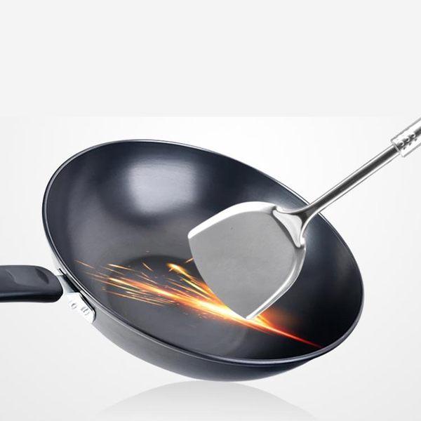 傳統炒菜鐵鍋家用無涂層平底鍋無油煙不粘鍋