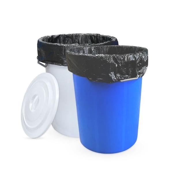 廚房垃圾桶大號帶蓋商用容量家用加厚公共戶外環衛塑料工業圓形桶 中秋特惠「快速出貨」