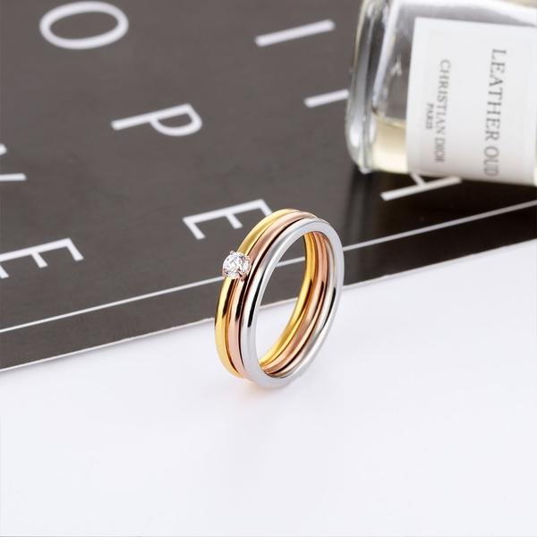 白鋼戒指 多種佩戴方式 女性尾戒 生日禮物 情人禮物 經典水鑽 單只價【BKS591】Z.MO鈦鋼屋