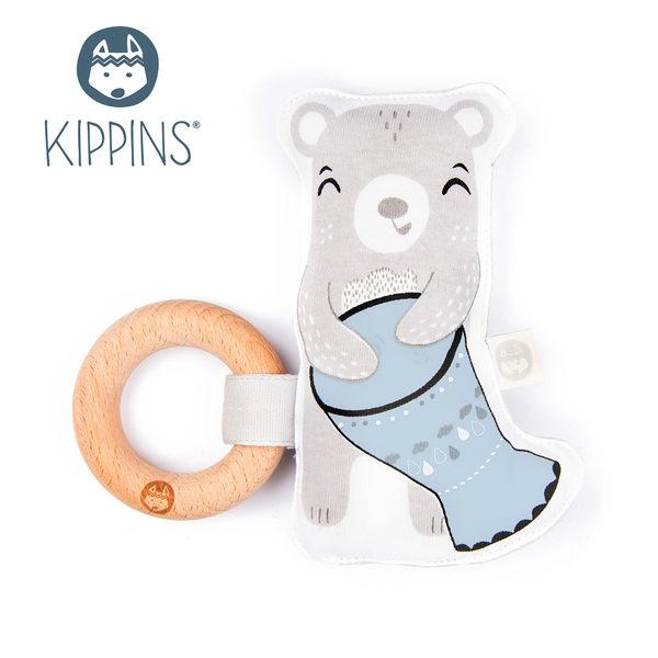 Kippins 澳洲 有機棉櫸木固齒器 / 動物造型固齒器 –  小熊款 BILLIE KIPLET