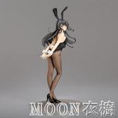 動漫二次元兔女郎美少女宅男路人女主手辦路西法模型擺件 moon衣櫥