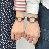 正韓簡約創意手錶小錶盤白色皮帶女錶兒童學生石英錶情侶WY【折現卷+85折】