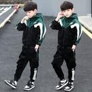 兒童裝男童秋裝套裝中大童秋冬季男孩洋氣金絲絨加厚韓版