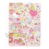 〔小禮堂〕Hello Kitty 日製硬墊板《B5.粉.45週年》學童文具.桌墊 4901770-58348
