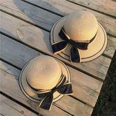 女童帽子夏兒童太陽帽寶寶遮陽帽防曬帽大檐草帽公主親子帽子母子-大小姐韓風館