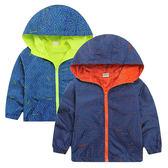 兒童運動防風連帽外套(90-120cm) 【巴布百貨】